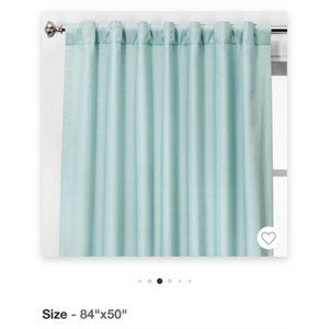 Threshold 84x50 Voile Overlay Blackout Curtain